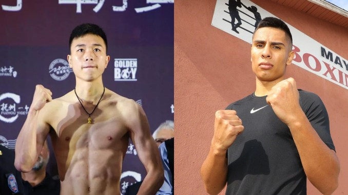 Can Xu (left), Manny Robles III
