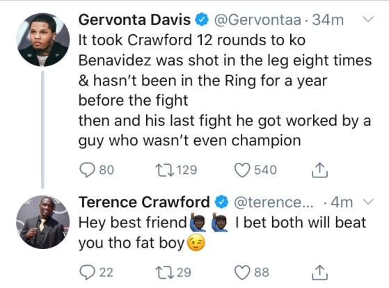 Gervonta Davis Clowns Terence Crawford Over Jose Benavidez Bout