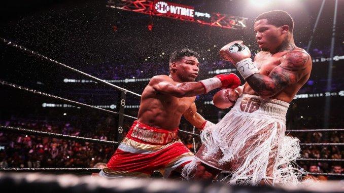Yuriorkis Gamboa punches Gervonta Davis