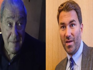 Bob Arum (left), Eddie Hearn
