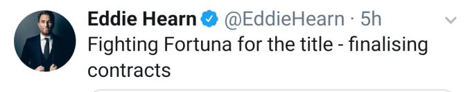 Eddie Hearn via Twitter
