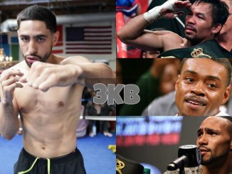 Danny Garcia, Manny Pacquiao, Errol Spence Jr and Keith Thurman