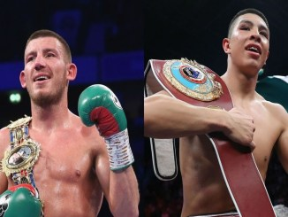 Liam Williams (left), Jaime Munguia