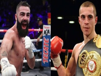 Jono Carroll (left), Scott Quigg