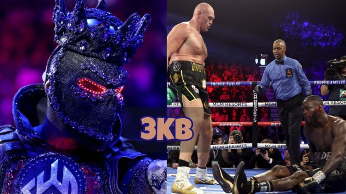 Deontay Wilder in uniform and Fury scores knockdown
