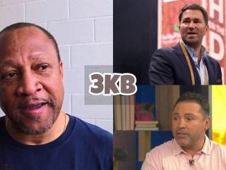 Ronnie Shields, Eddie Hearn, Oscar De La Hoya