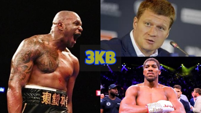 Dillian Whyte, Alexander Povetkin and Anthony Joshua