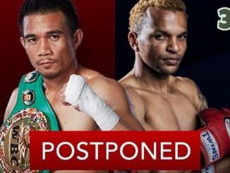Srisaket Sor Rungvisai vs Amnat Ruenroeng postponed