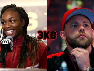 Claressa Shields (left), Billy Joe Saunders