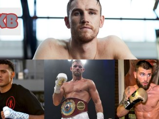 Callum Smith (top), (left to right) David Benavidez, Billy Joe Saunders, Caleb Plant
