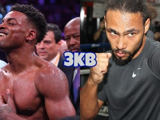 Errol Spence Jr (left), Keith Thurman
