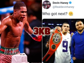 Devin Haney and Tweet by Devin Haney