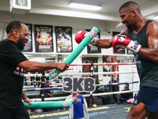 Badou Jack trains with Johnathon Banks (left)