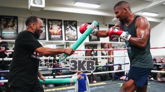 Badou Jack trains with Johnathon Banks (left)