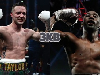 Josh Taylor (left), Terence Crawford