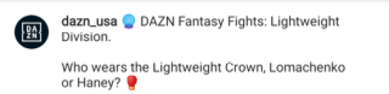 DAZN question fans on lightweight supremacy