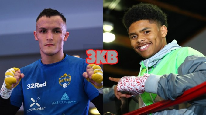 Josh Warrington (left), Shakur Stevenson
