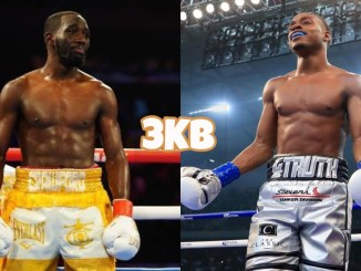 Terence Crawford (left), Errol Spence Jr.
