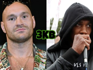 Tyson Fury (left), Anthony Joshua