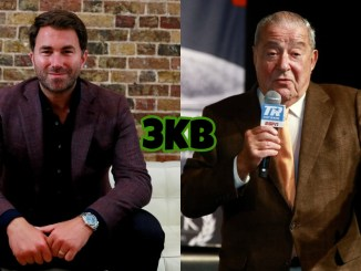 Eddie Hearn (left), Bob Arum