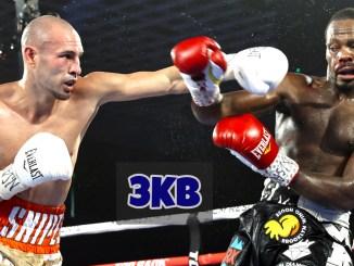 Jose Pedraza lands a straight left on Mikkel LesPierre