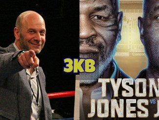 Lou Dibella and Mike Tyson vs Roy Jones Jr banner