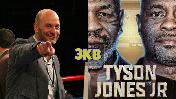 Lou Dibella and Mike Tyson vs Roy Jones Jr banner