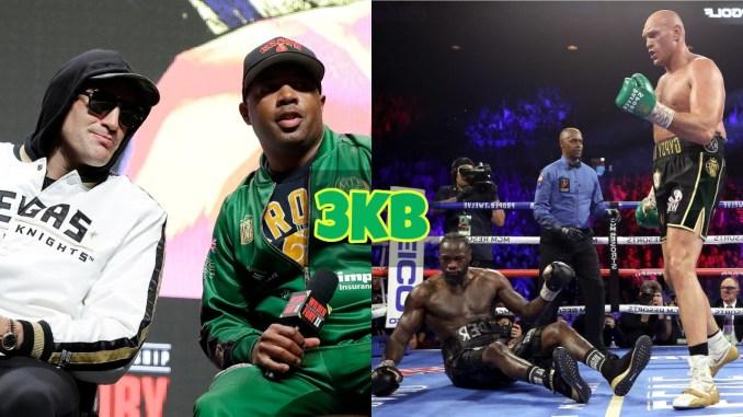 Tyson Fury and Javan Hill watch Fury knockout Deontay Wilder