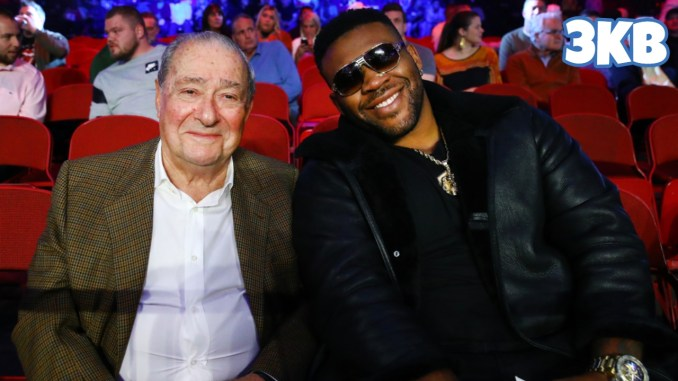 Bob Arum (left) with Jarrell Miller