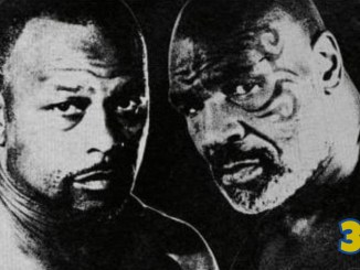 Roy Jones Jr (left) and Mike Tyson promotional