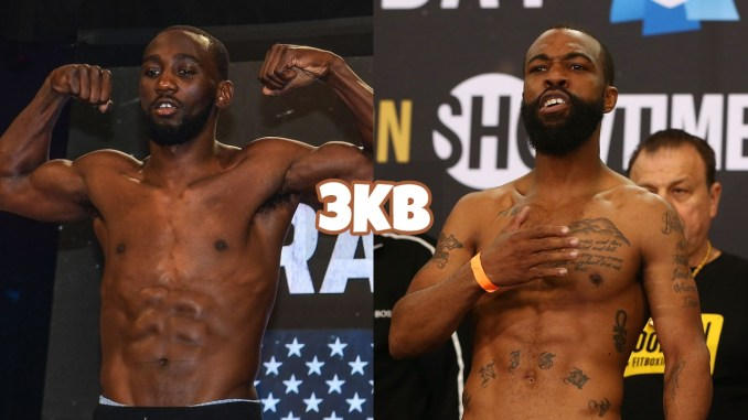 Terence Crawford (left), Gary Russell Jr.