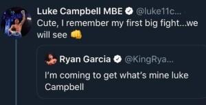 Ryan Garcia warns Luke Campbell over social media
