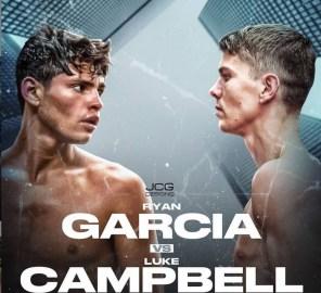 Ryan Garcia v Luke Campbell poster from Ryan Garcia's Instagram account