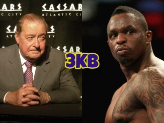 Bob Arum (left), Dillian Whyte