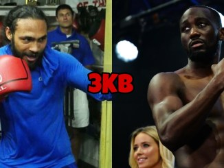 Keith Thurman (left), Terence Crawford