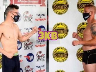 Sergio Martinez (left) and Jose Fandino at weigh-in