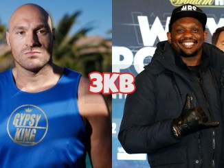 Tyson Fury (left), Dillian Whyte