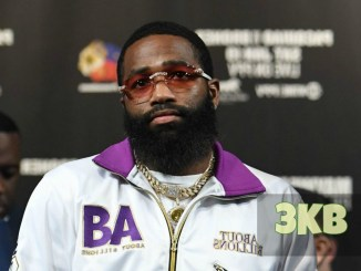 Adrien Broner answers questions at a press conference