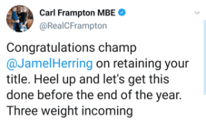 Carl Frampton congratulates Jamel Herring and call for a 2020 bout