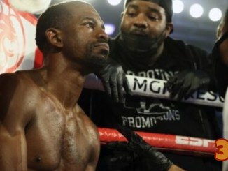 Jamel Herring in the corner with trainer Brian McIntyre