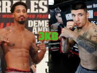 Demetrius Andrade (left), Dusty Hernandez Harrison