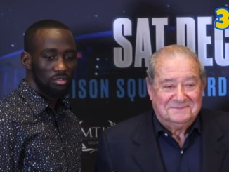 Terence Crawford (left) with Bob Arum