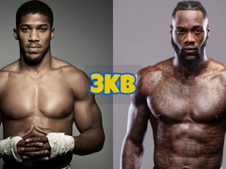 Anthony Joshua (left), Deontay Wilder