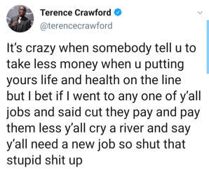 Terence Crawford asserts his position on lower pay for Errol Spence fight