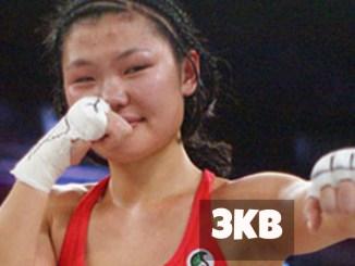 Hyun Mi Choi celebrates victory