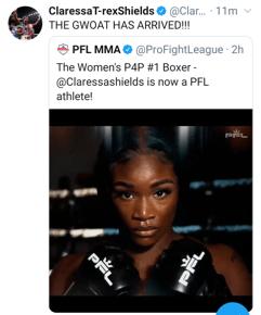 Claressa Shields signs with PFL