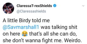 Claressa Shields claps back at Savannah Marshall on social media