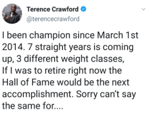 Terence Crawford takes a dig at Errol Spence Jr.