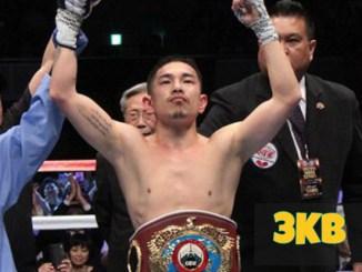 Kazuto Ioka celebrates victory