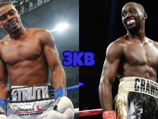 Errol Spence Jr (left), Terence Crawford